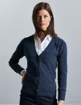 Ladies` V-Neck Knitted Cardigan